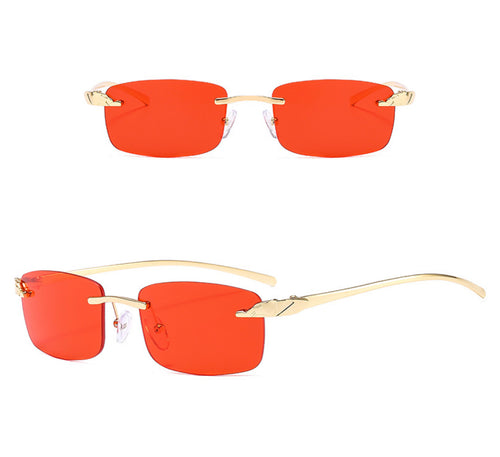 Rectangle Rimless Sunglasses #BY02 - LASIDORE Beauty Bar