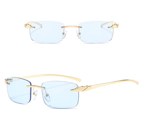 Rectangle Rimless Sunglasses #BY03 - LASIDORE Beauty Bar