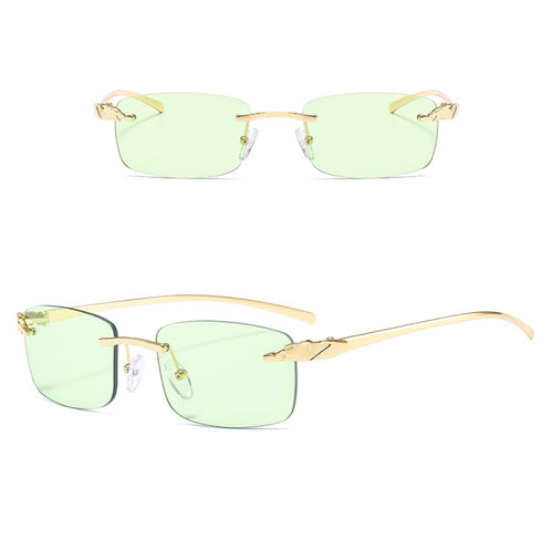 Rectangle Rimless Sunglasses #BY04 - LASIDORE Beauty Bar