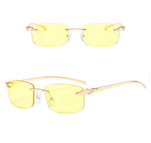 Rectangle Rimless Sunglasses #BY05 - LASIDORE Beauty Bar