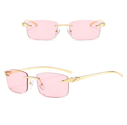 Rectangle Rimless Sunglasses #BY06 - LASIDORE Beauty Bar