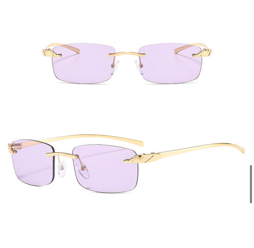 Rectangle Rimless Sunglasses #BY07 - LASIDORE Beauty Bar