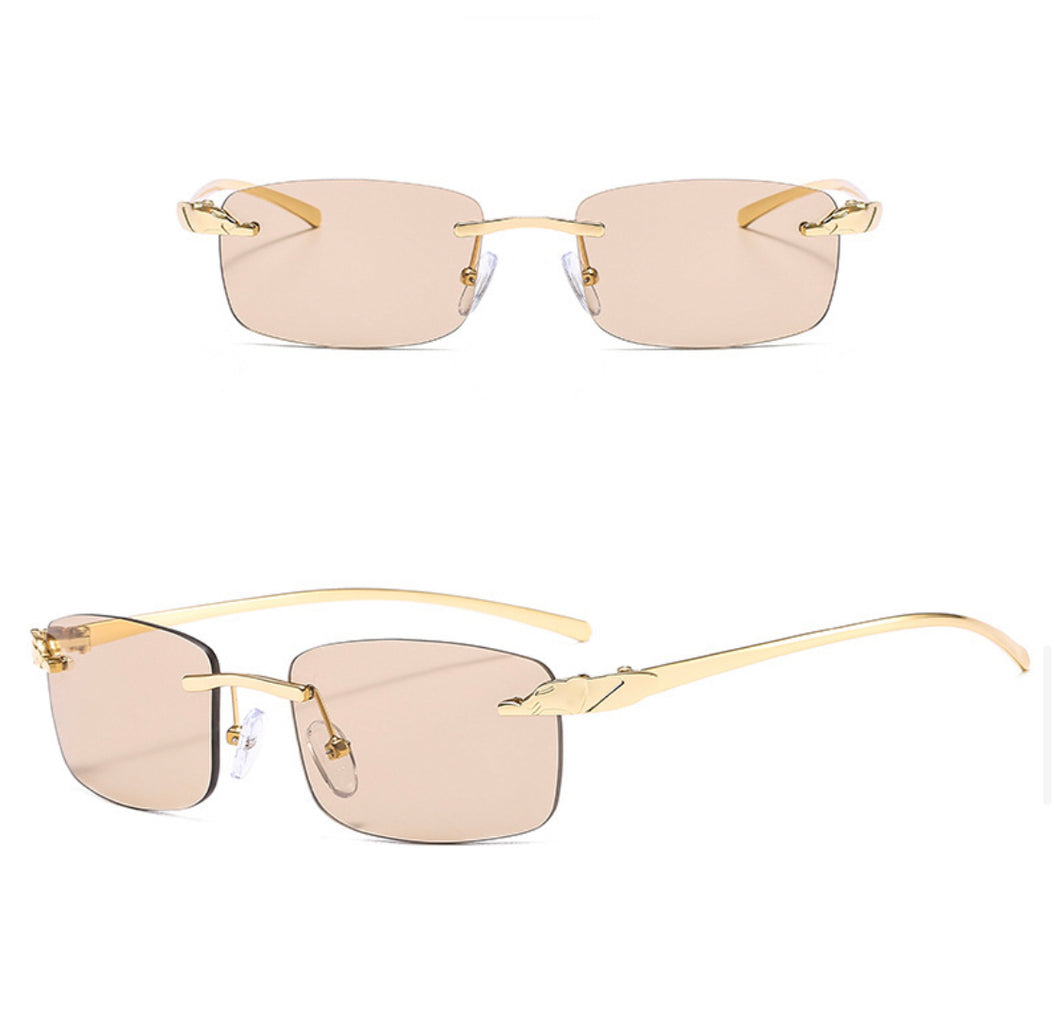 Rectangle Rimless Sunglasses #BY08 - LASIDORE Beauty Bar