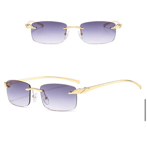 Rectangle Rimless Sunglasses #BY09 - LASIDORE Beauty Bar