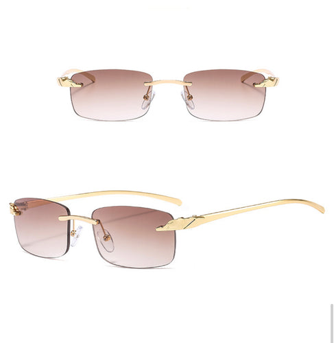 Rectangle Rimless Sunglasses #BY10 - LASIDORE Beauty Bar