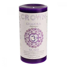 Afbeelding in Gallery-weergave laden, Chakra Scented Pillar Candles - LASIDORE Beauty Bar