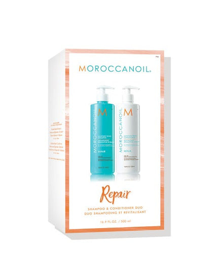 Moroccanoil MOISTURE REPAIR SHAMPOO & CONDITIONER DUO 500ml - LASIDORE Beauty Bar