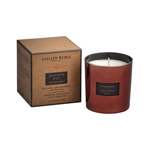 Atelier Rebul Saffron Oud Scented Candle 210g - LASIDORE Beauty Bar