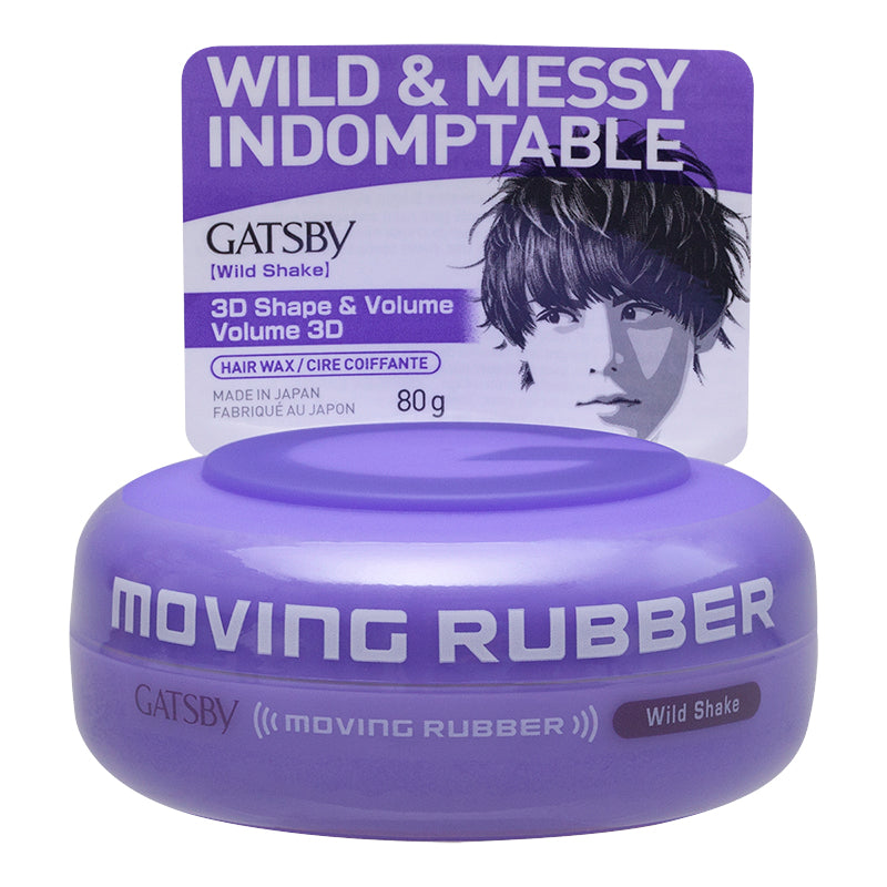 Gatsby Moving Rubber Wild Shake Hair Wax 80g/2.8oz
