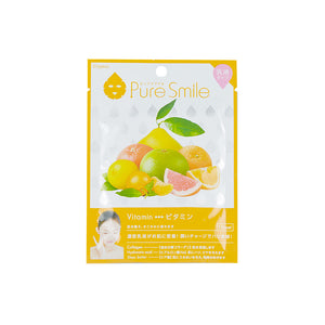 Puresmile, Milky Essence Facial Mask Sheet, Vitamin, Fruits Extracts