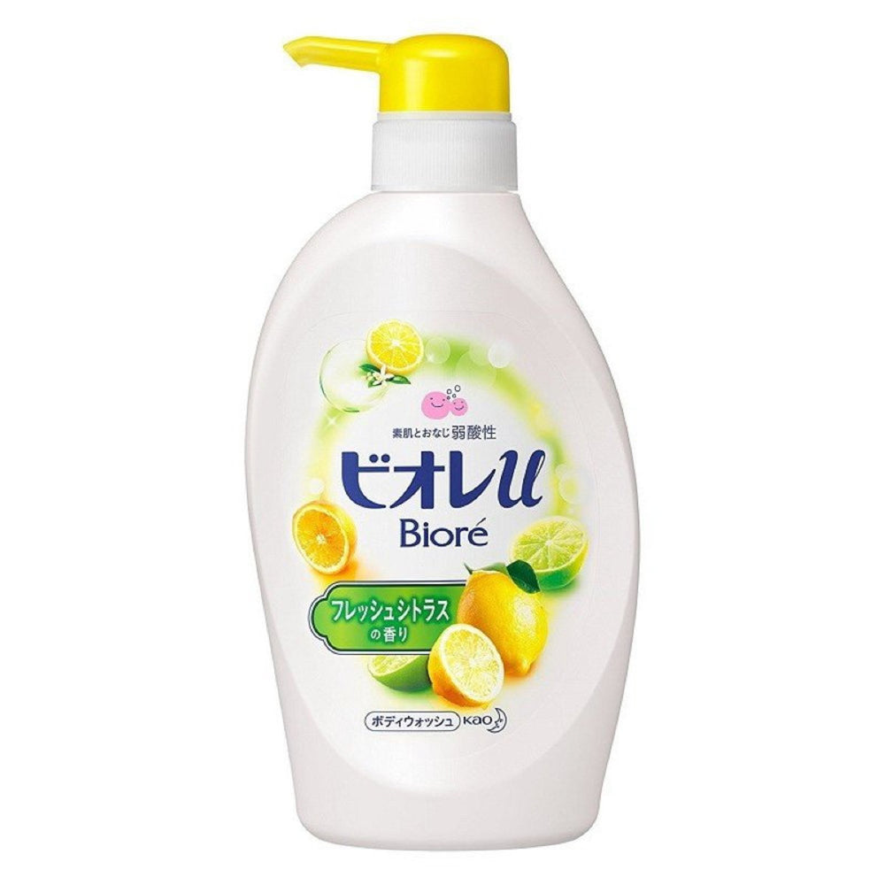 KAO BIORE U BODY SOAP FRESH CITRUS PUMP