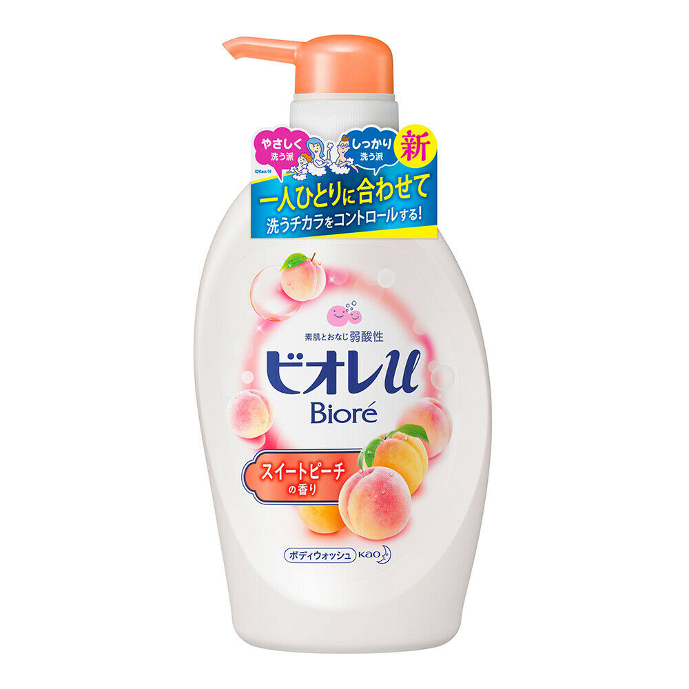 KAO BIORE U BODY SOAP SWEET PEACH PUMP