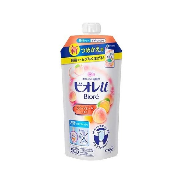 KAO BIORE U BODY SOAP SWEET PEACH REFILL