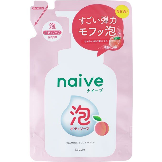 KRACIE NAIVE FOAMING BODY SOAP REFILL