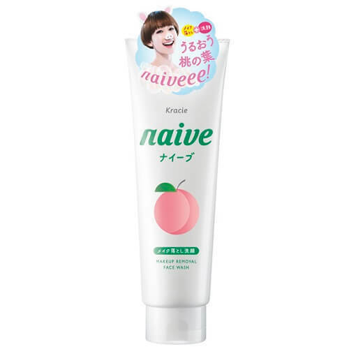 KRACIE NAIVE MAKEUP CLEANSING FOAM PEACH