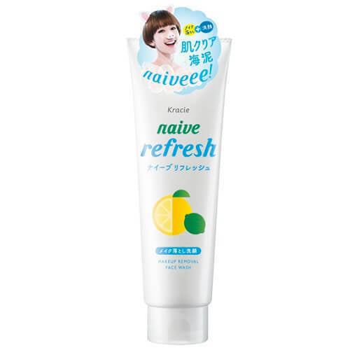 Load image into Gallery viewer, Kracie Naive 2-in-1 Facial Cleansing Foam Makeup Cleanse - Lemon