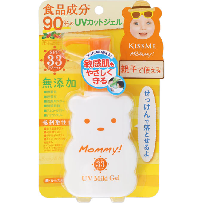 ISEHAN KISSME MOMMY UV MILD GEL SUNSCREEN FOR KIDS 100G SPF33 PA+++