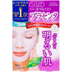 KOSE CLEAR TURN WHITE MASK (PLACENTA) FIVE TIMES (22MLX5)
