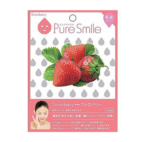 Load image into Gallery viewer, SUNSMILE PURESMILE, MILKY ESSENCE FACIAL MASK SHEET, STRAWBERRY