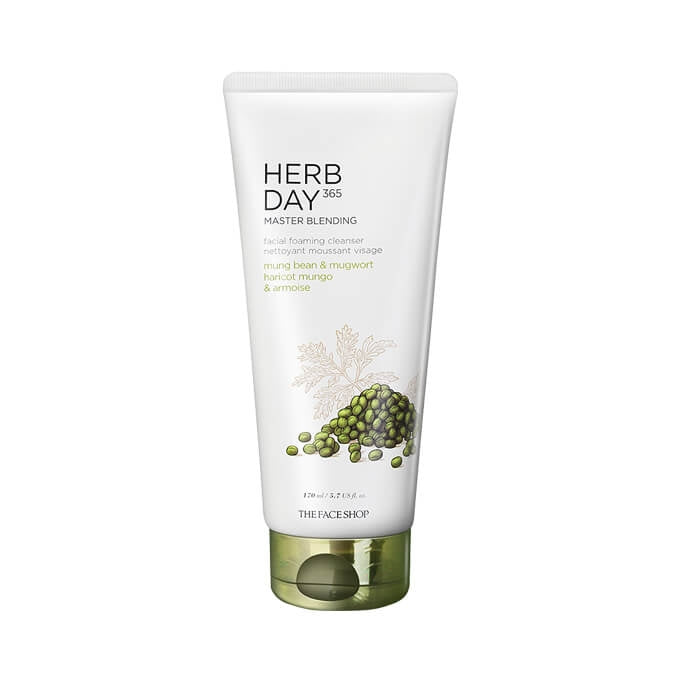 The Face Shop Herb Day 365 Foaming Cleanser Mung Bean & Mugwort