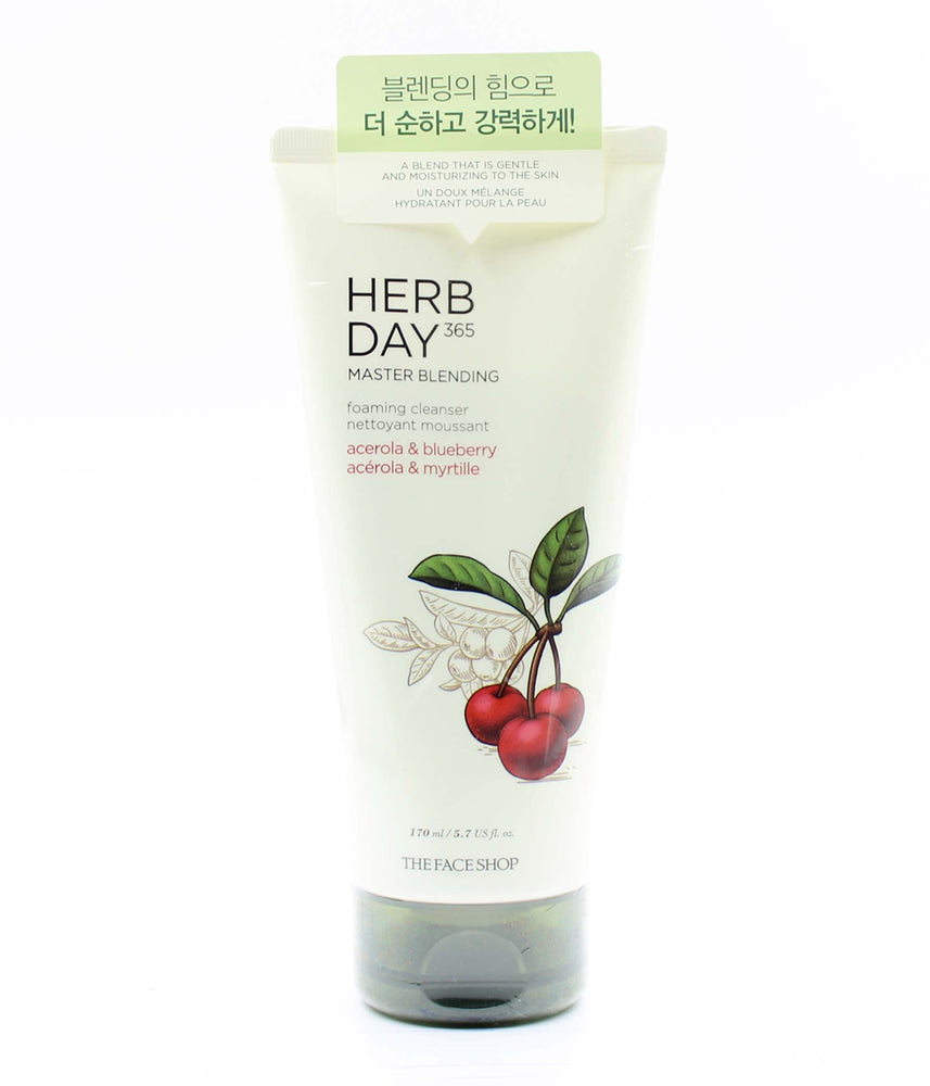 The Face Shop Herb Day 365 foaming cleanser acerola & blueberry