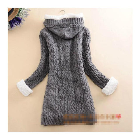 40% OFF) 2020 New cashmere thick warm hooded coat – So Happy