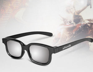 zfsook 3D Spectacles, 3D Non-Flash Glasses, 3D Polarized Stereo Glasses, Special Glasses for Cinema
