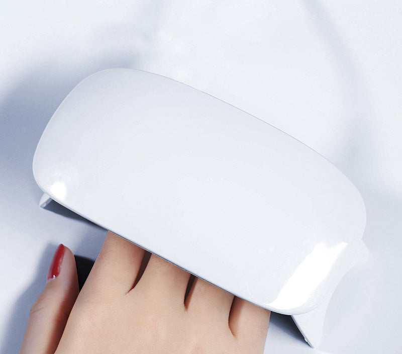 Cairiocoin UV LED Nail Dryer Nail Lamp Portable Curing Light for Gel Nail Polish,6w(white)