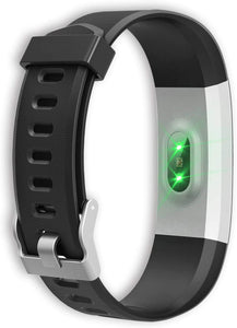 Virmee Wearable Activity Trackers Watch, Waterproof Smart Bracelet with Step Counter for Walking, Pedometer Watch for Kids Women and Men