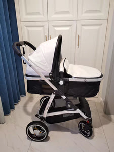 natkie Pram Stroller with Bassinet for Newborn Baby and Toddler Reclining Seat