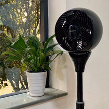 Load image into Gallery viewer, SIMETA Electric Fans for Household Purposes, Adjustable Height, 3 Speed Settings, Removable Grill for Cleaning, Black