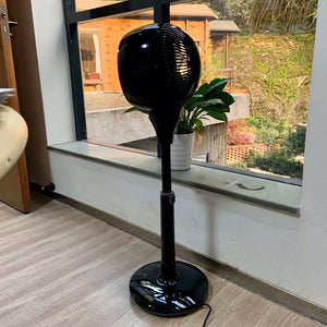 SIMETA Electric Fans for Household Purposes, Adjustable Height, 3 Speed Settings, Removable Grill for Cleaning, Black