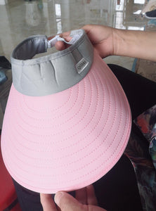 Qfibkr Hats, Summer UV Protection, with Foldable Package, for Women, Pink