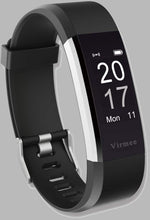 Load image into Gallery viewer, Virmee Wearable Activity Trackers Watch, Waterproof Smart Bracelet with Step Counter for Walking, Pedometer Watch for Kids Women and Men