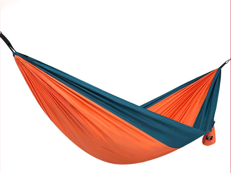 STERT Camping Hammock Double & Single Portable Hammocks with 2 Tree Straps, Lightweight Nylon Parachute Hammocks for Backpacking, Travel, Beach