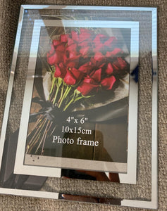 HODJOY 4x6 Picture Frames Real Glass for Photo Display Stand on Tabletop