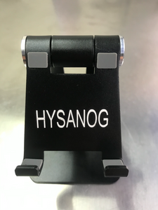 HYSANOG Smartphone Mounts, for All Mobile Phones, Adjustable, Foldable, for Desk, Home, Office, Travel (Black)