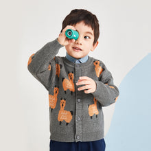 Load image into Gallery viewer, wendunide Baby Boys Girls Print Sweater Coat, Long Sleeve Button-up Knitted Cardigan Casual Tops for Autumn & Winter