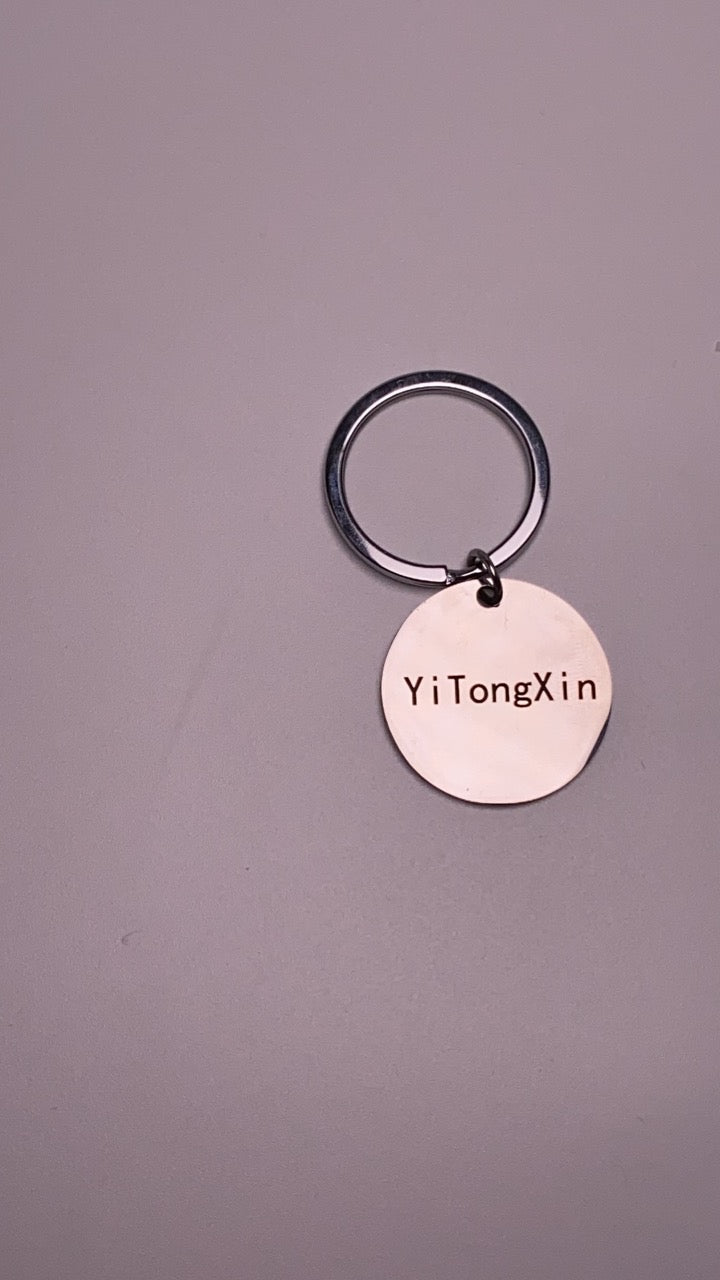 YiTongXin Stainless Steel Engravable Polished Round Shape Metal Key Chains