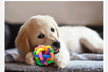 Load image into Gallery viewer, GreatTide Pet Toys, Colorful Bouncy Rubber Balls with Bell for Puppy Dog Kitty Cat Chew and Play