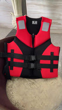 Load image into Gallery viewer, JNRSAFE Life Vest, Water Sports Adult Life Jackets,Red