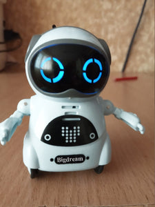 Bigdream Toy Robots Educational Mini Pocket Robot for Kids Interactive Dialogue Conversation,Voice Control, Chat Record, Singing& Dancing (White)