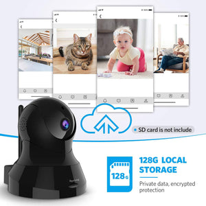 Bgulong Multiple Purpose Camera - 1080P HD Home Security Camera with 32 FT Night Vision, 2-Way Audio, Real-Time Surveillance for Baby/Pet.