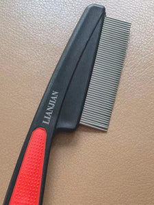 LIANJIAN Combs, Stainless Steel Material, with Long Teeth, Long Handle, Anti-Static, 1 Pcs