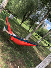 Load image into Gallery viewer, STERT Camping Hammock Double & Single Portable Hammocks with 2 Tree Straps, Lightweight Nylon Parachute Hammocks for Backpacking, Travel, Beach