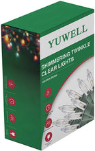 Load image into Gallery viewer, YUWELL 100 Counts Clear Christmas String Lights, 20.5 Ft Warm Mini Lights for Christmas Tree Indoor Outdoor Patio Wreath Garden Decorations, Green Wire
