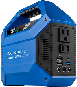 Acreaday Rechargeable Batteries, iGen1200 Portable Inverter Generator 1000 Rated 1200 Peak Watts, Gas Powered