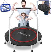 Load image into Gallery viewer, HOSEHUI 43'' Silent Foldable Trampoline,  Mini Trampoline for Kids Adults Indoor/Garden Max Load 400lbs