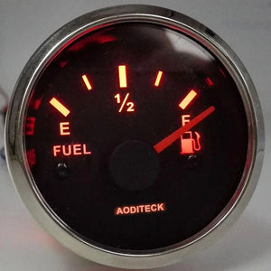 AODITECK Fuel Gauges, with Indicating Range, Lighting Background, Anti-Fogging, Anti-Rust,  Waterproof