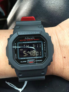 Aibeads Men's Sports Watch,Square Black